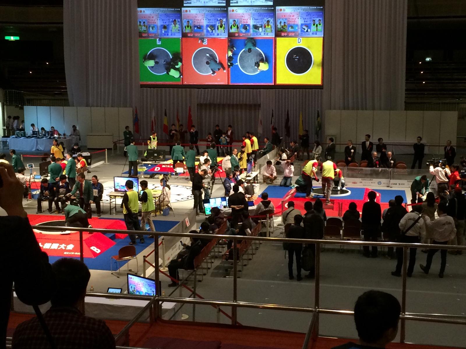 ロボット相撲大会 会場の様子