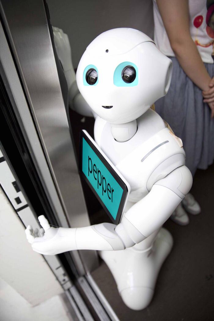 日本を明るくするロボットPepper〜エレベータ