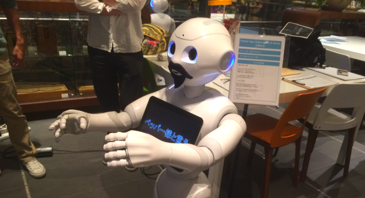 Palsbots in pepperデモアプリ体験会