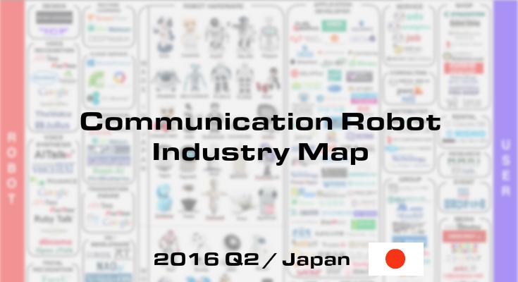 「国内コミュニケーションロボット業界マップ」2016Q2版発表~世界をリードする日本のロボット業界を全網羅~