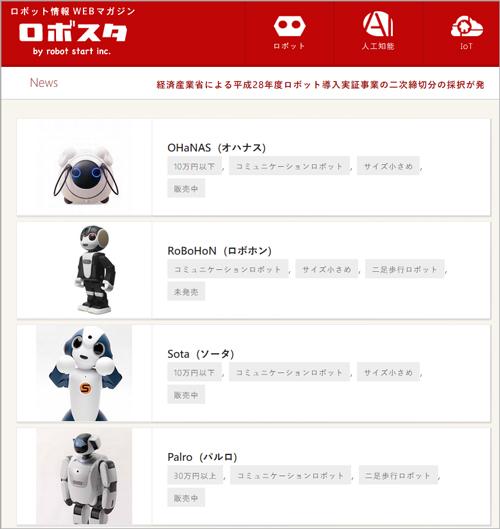 ロボットデータベース