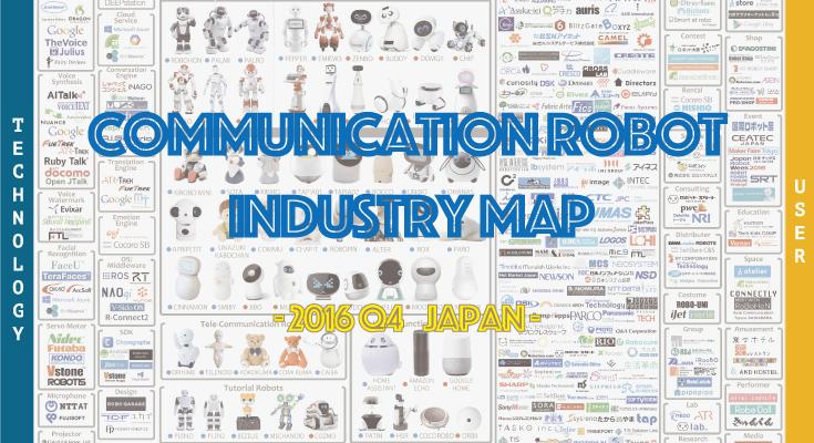 最新版のロボット業界マップ 2016年Q4版を公開! ロボット業界を39分類に可視化、デベロッパーは200社に倍増