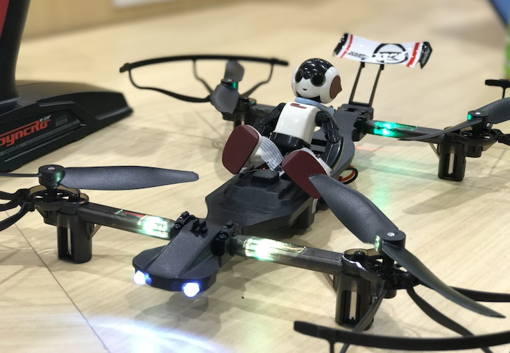 drone racer with robi
