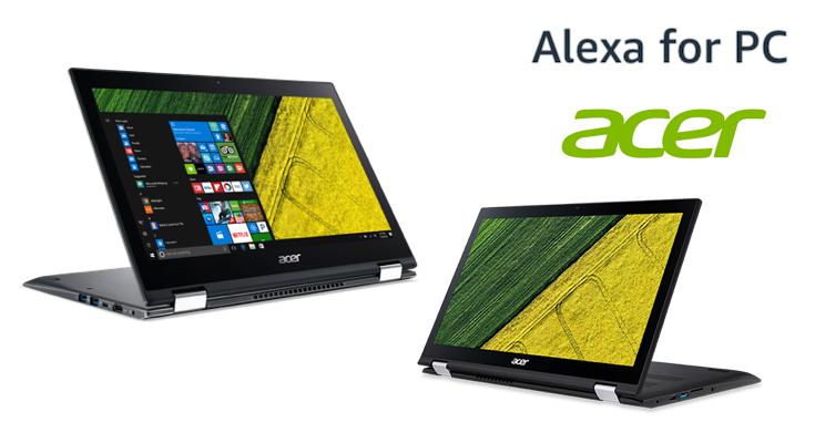Alexa for PC】AcerがAmazon Alexa搭載のWindows 10 PCを発表