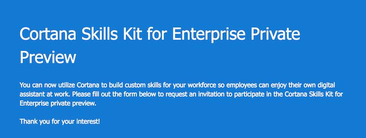 マイクロソフトがcortana skills kit for enterprise を発表 自社内