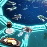 料理をテーブルを置くとザクが発進?ジオン公国軍のBARで戦闘シミュレーション付き食事の新体験!ガンダムカフェ