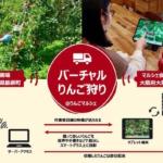 スマートグラスを活用した「バーチャルりんご狩り」Osaka Food Labの「りんごマルシェ」で開催