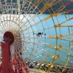 1日掛かる大型遊戯施設の点検もドローンなら数十分で完了 4500万画素撮影「DJI Zenmuse P1」の活用事例で動画で公開