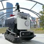 富士防災警備とテクノロード、屋外向け警備ロボット「アルジスX」を開発 宮下公園で実証実験