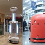 中西金属工業 藤井寺市で自動床洗浄ロボットと除菌ロボットの実証実験を実施 商業施設や公共施設での活躍の可能性を確認